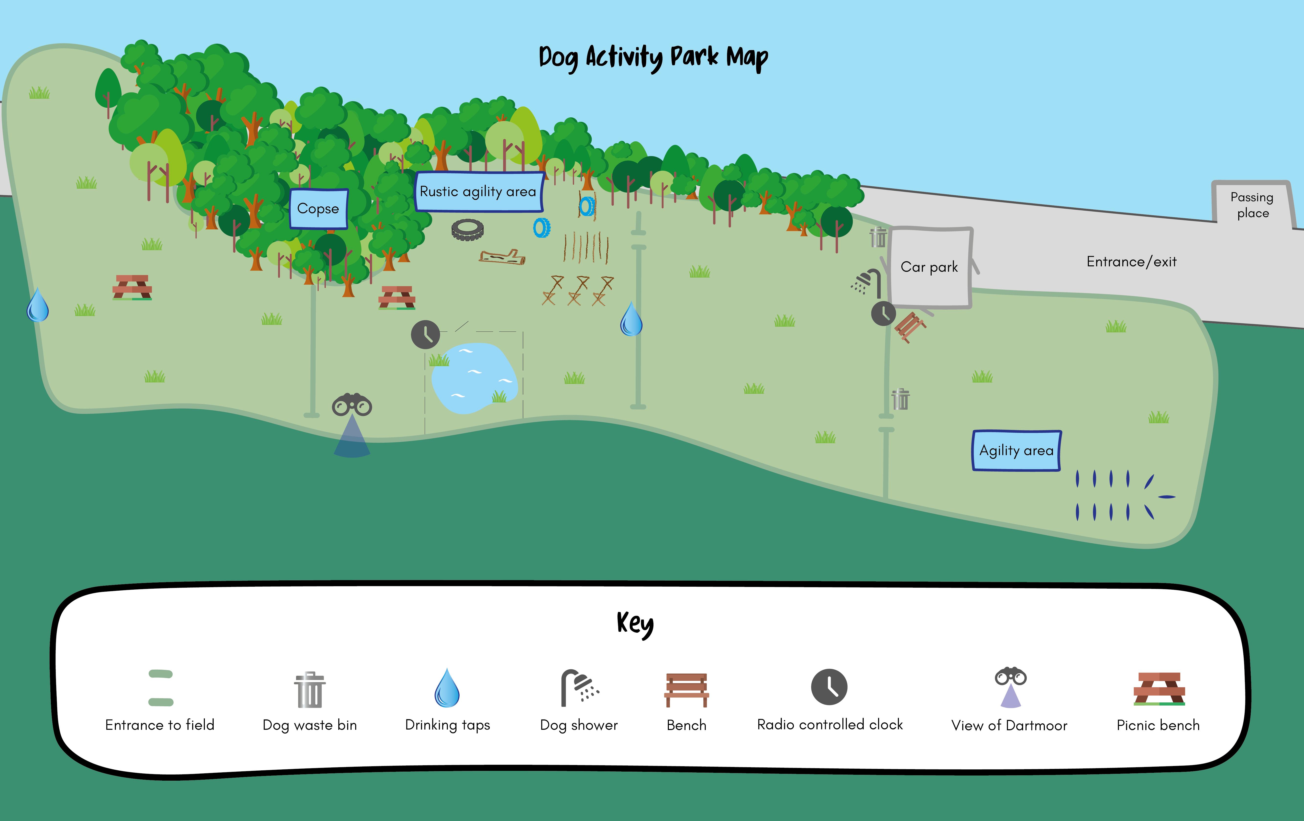 Dog park map